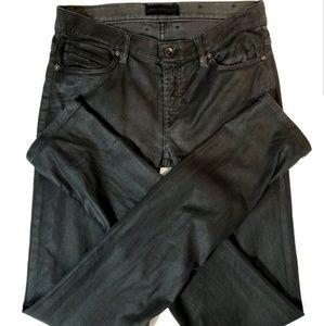 Diesel Black Coated Skinny Jeans